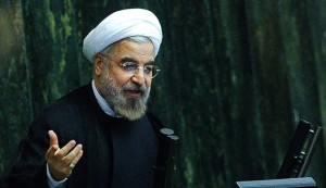 A picture obtained from Iran's ISNA news agency shows Iranian President Hassan Rouhani speaking during an open session in the parliament in Tehran on November 10, 2013. Rouhani said Iran will not abandon its nuclear rights, including uranium enrichment, media reported a day after a fresh round of talks with world powers. AFP PHOTO/ ISNA / BORNA GHASEMI        (Photo credit should read BORNA GHASEMI/AFP/Getty Images)